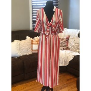 Tie front NY & CO Jumpsuit
